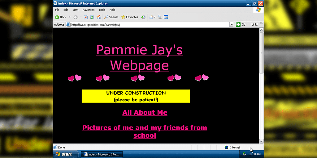 Pammie Jay's Webpage (geocities)