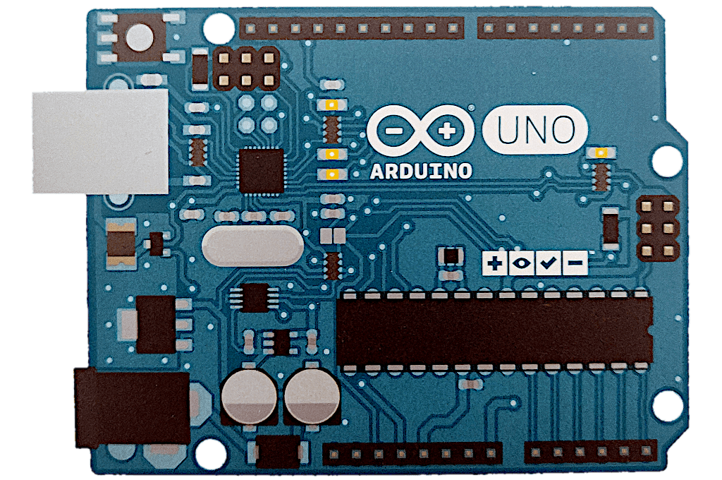Arduino Uno form factor (photo of the cardboard package front)