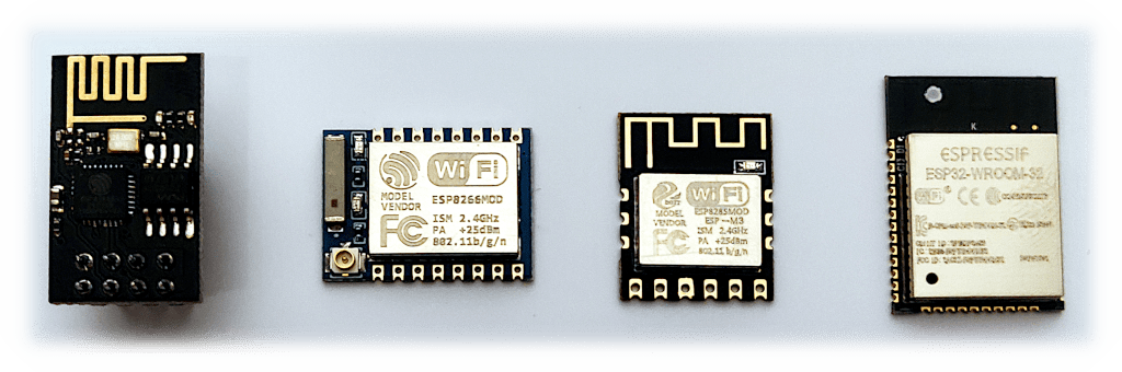 ESP8266 surrounded by components
